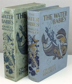 KINGSLEY, Charles. The Water Babies, 16 mounted colour plates by A. E. Jackson, original pictorial gilt cloth in matching slipcase, 4to, Humphrey Milford, no date.