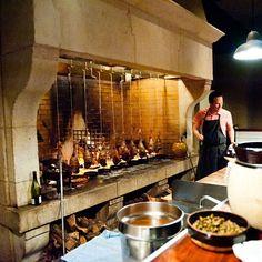 Camino, Oakland, Ca Grill Restaurant, Restaurant Kitchen, Restaurant Design, Fire Grill, Bbq Grill, Commercial Kitchen Design, Commercial Cooking, Built In Braai, Open Fire Cooking