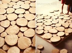 For the photo booth! A wood round backdrop. Easy for us to do.