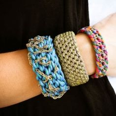 Utility cords are making a splash in designer jewelry lines. Here's how to make your own utility cord bangle.