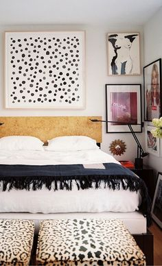 ⋴⍕ Boho Decor Bliss ⍕⋼ bright gypsy color  hippie bohemian mixed pattern home decorating ideas - animal dots and shots of color