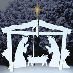 Christmas Plans, SC1151 Winter White Nativity, Woodworking Plans and Projects