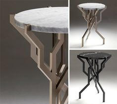 rustic modern tables