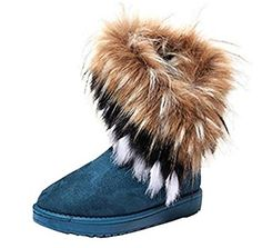 Winter Womens Warm Snow Ankle Boots High Long Faux Fox Rabbit Fur Tassel Shoes 37 Green ** Continue to the product at the image link.(This is an Amazon affiliate link and I receive a commission for the sales)