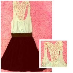 White & black short dress Black and white tight waist band short skirt Derek Heart Dresses Mini