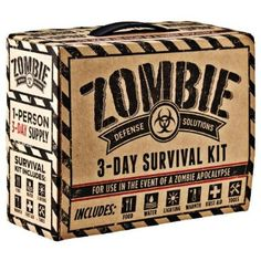 {Zombie Defense Solutions: 3-Day Survival Kit} *too funny #FathersDayGift