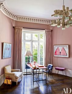 Veere Grenney Devises a London Rowhouse with Cutting-Edge Art and Sleek Interiors Photos   Architectural Digest