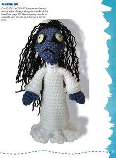 Ghoulish Grace Crochet Pattern  ~ Creepy Crawly Crochet:   ~ Halloween