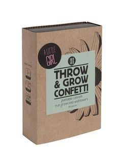 Throw & Grow confetti - A little girl