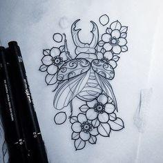 Stag beetle for laura Cover Up Tattoos, Mini Tattoos, Body Art Tattoos, Unique Tattoos, Beautiful Tattoos, Learn To Tattoo, Tattoo Tradicional, Neo Traditional Tattoo, Traditional Tattoo Stencils
