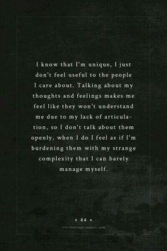 Não sou fria, so não quero chatear os outros com os meus problemas