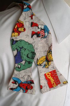 Marvel Comic in Colour Bow tie by PinchAndPull on Etsy, via Etsy.