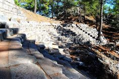 Know more about the village of Uzumlu Turkey and remains of Lycian Cadianda Fethiye. Roman Theatre, Attraction, Theater, Places To Visit, Explore, City, Teatro, Theatres, Places Worth Visiting
