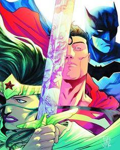 The Trinity! 😁 ~~~~~~~~~~~~~~~~~~~~~~~~~~~~~~~~~~ #Batman #Superman #WonderWoman #Trinity #DCTrinity #rebirth #dcrebirth #dc #comics #dccomics #superhero #superheroes #comic #justiceleague #comicbooks #comicstuff