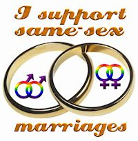 I support same-sex marriage