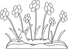 black and white spring flowers and butterflies card making rh pinterest com free black and white spring music clip art spring clip art black and white free
