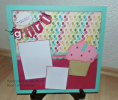 stampinup girl birthday scrapbook pages | ... of the Birthday pages use Stampin' Up cardstock and designer pages