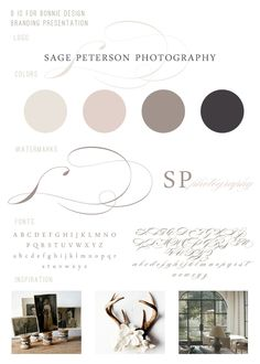 b is for bonnie design: Sage Peterson Photography + Classic Neutral Brand Identity