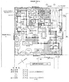 夫婦と子ども2人、高齢者が同居する角地に計画した住まい。 毎日の主婦の家事動線を重視したプランになっています。 おばあちゃんの寝室になる和室は水廻りか...