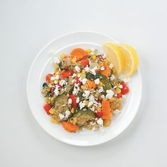 Quinoa with Roasted Veggies and Feta Recipe -When I want to bust out of my salad rut, I roast a medley of veggies and mix them with fluffy quinoa, a super-nutritious grain. Make a double batch to have an encore salad waiting in the fridge.—Julie Piasecki, Franklin, Massachusetts