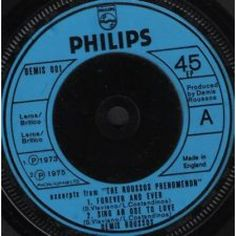 """7"""" 45RPM Excerpts From The Roussos Phenomenon EP by Demis Roussos from Philips"""