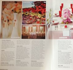 Club Rose Bay's Deck Bar Lounge in Wedding magazine ~ Summer Deck Bar, Rose Bay, Bar Lounge, Etiquette, Magazine, Club, Table Decorations, Floral, Modern