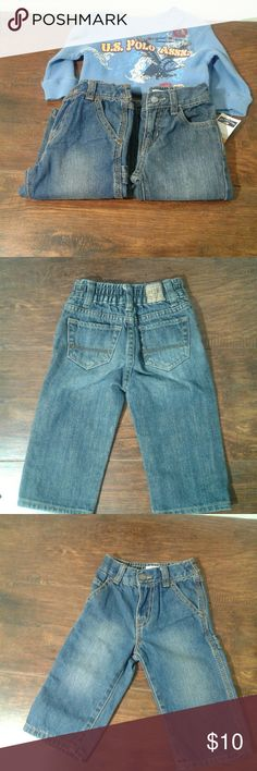 Infant jeans Size 2T Children place straight jeans size:12-18 months Children place utility jeans size:12-18 months US polo assn. thermal long sleeve  shirt size 12months Condition: used light wear but overall in good condition comes from a smoke free home The Children's Place Bottoms Jeans
