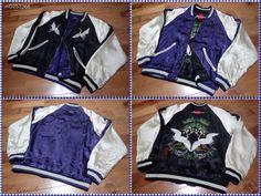 SUKAJAN Reversible Bomber rayon jacket ( japanese M ) Crane JP Pine IORANI dress #IOLANI #FlightBomber
