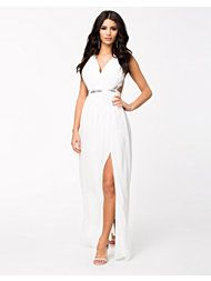 Long white grecian dress