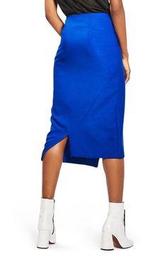 Main Image - Topshop Button Midi Skirt