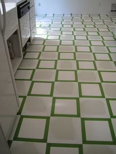 Linoleum Floor Paint. {Beautiful Nest}: Painted Vinyl Floor