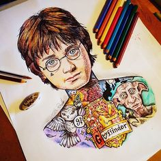 Awesome Harry Potter Drawing!   _ Follow @travel_dome for amazing travel pictures!       _ Artwork by @littlesamsart _ #artistic_dome #artoftheday #artstagram #pencil #artist #art #worldofpencils #artistic_discover #artistic_island #artistic_manor #painting #doodle #zendoodle #zentangle #artistic_castle #artistic_showcase #harrypotter #hogwarts