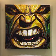 Hulk LEGO Mosaic by chef-chad on DeviantArt