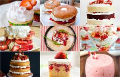 The 50 Most Delish Strawberry Shortcake Recipes  - Delish.com  -  sweet desserts, snacks, variety.  cake, drinks, smoothies, whipped cream, fruit, etc.     lj
