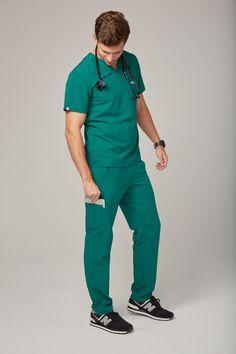 0ef882c501 Men's Axim Cargo Scrub Pants Scrub Pants, Hunter Green, Scrubs, Handsome,  Sweatpants