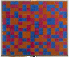 Piet Mondrian | Composition avec grille 8: Composition d'échecs avec…