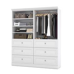 Versatile by Bestar Classic Closet Organizer Set (White)(Laminate) Corner Closet, Front Closet, Walk In Closet, Master Closet, White Closet, Men Closet, Bathroom Closet, Wardrobe Closet, Closet Bedroom