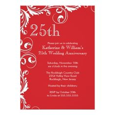 651 Best 25th Anniversary Party Invitations Images In 2014