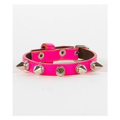 Fire Neon Bracelet ($2.75) ❤ liked on Polyvore featuring jewelry, bracelets, pink, bracelet jewelry, buckle bracelet, buckle jewelry, spike bangle and fire bracelet