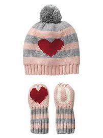 Love U hat and mitten set - The Gap