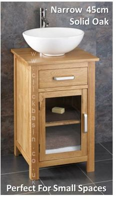 Perfect For Use In Smaller Bathrooms Where Space Is Limited U2013 It Helps You  To Make. Oak CabinetsBathroom ...