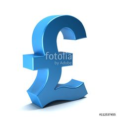 """Pound currency icon. 3D rendering illustration"" Stock photo and royalty-free images on Fotolia.com - Pic 112537455"