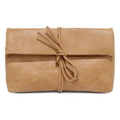 Roped In Tan Clutch (2.030 RUB) ❤ liked on Polyvore featuring bags, handbags, clutches, purses, beige, pocket purse, beige handbags, zipper handbag, zipper purse and long handbags