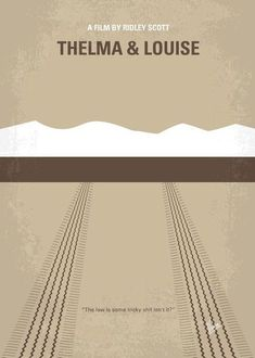 No189 My Thelma and Louise minimal movie poster