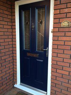 Beautiful blue ROCAL composite door recently installed by COVE Windows. #compositefrontdoor #ROCAL # & Lovely front door \u0026 side screen installed by COVE Windows.   Front ...