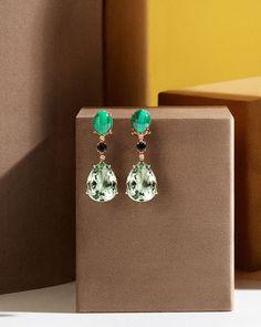 "eda11e7b0d88 RABAT Jewels   Timepieces on Instagram  ""Estos pendientes de oro rosa con  malaquita"