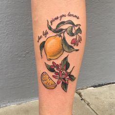 When life gives you lemons... make a tattoo for your strong and brilliant friend Charlotte @a.c_bakery thank you so much for letting me do this for you lovely! #tattooapprentice #botanicaltattoo