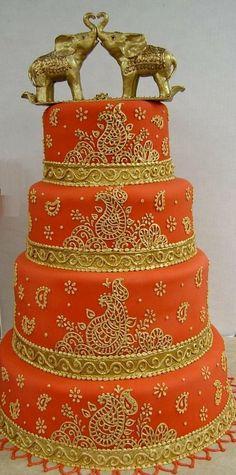 Indian Cake, Indian Wedding Cakes, Themed Wedding Cakes, Amazing Wedding Cakes, Amazing Cakes, Red Indian, Indian Weddings, Indian Style, Gorgeous Cakes