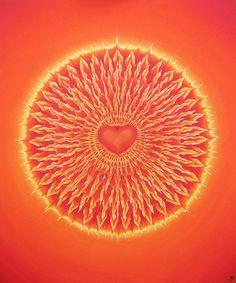 "Saatchi Art Artist Jo Thilwind; Painting, ""FLAME MANDALA {LovePainLove} Eclipse"" #art"