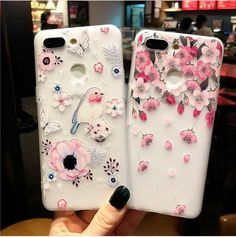 Silicone Phone Case, Mobile Phone Cases, Phone Cover, Floral Flowers, Girly, Lady Like, Girly Girl, Cell Phone Carriers